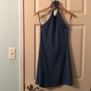 Forever 21 Blue Knit Halter Dress